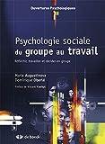 Psychologie sociale du groupe au travail, réfléchir, travailler et décider en groupe