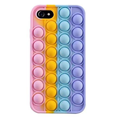 NC YXKJ - Cover Compatibile con iPhone 7 8 SE 2020, [Decompressione] Custodia Morbida in Silicone 3D Cover Antistress con Bolle Sensoriali - Colore