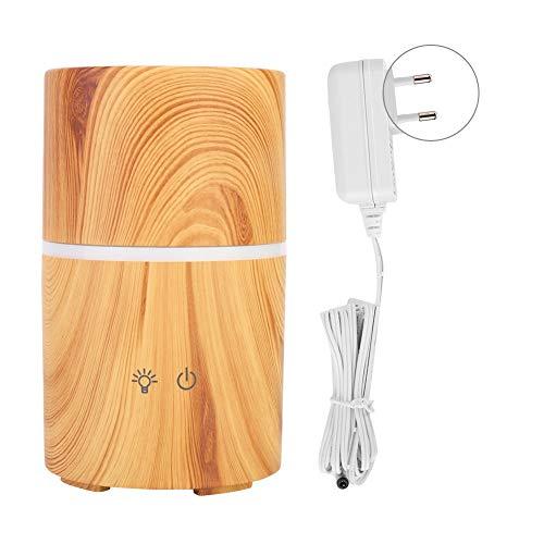 Difusor de aromaterapia, multipropósito de grano de madera LED difusor inteligente humidificador de altavoz inalámbrico para decoración de uso doméstico(Enchufe de la UE 100-240 V)