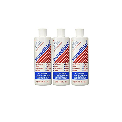 Incredible Inc. Cleaner; Stain Remover; Deodorizer 16 Oz (3 Pack)