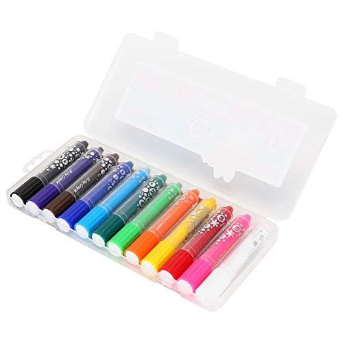 Kleurpotloden voor peuters, niet-giftige kleurpotloden, zijdeachtig badkrijt voor kinderen Wateroplosbare penpunt