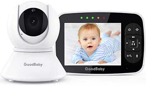 Baby Monitor with Remote Pan Tilt Zoom Camera Keep Babies Safe with 3 5 Large Screen Night Vision product image