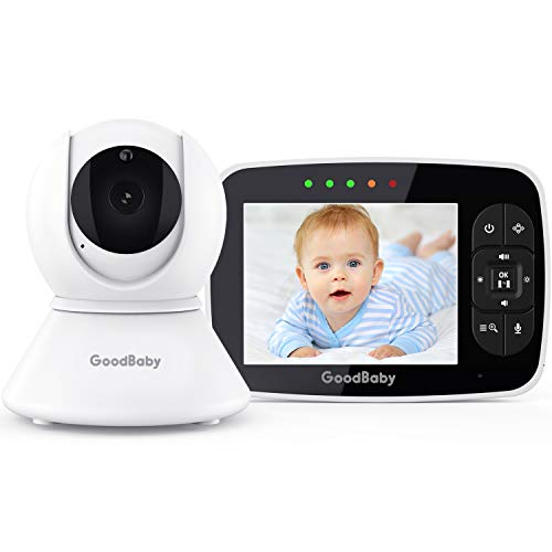 "Baby Monitor with Remote Pan-Tilt-Zoom Camera|Keep Babies Safe with 3.5"" Large Screen, Night Vision, Talk Back, Room Temperature, Lullabies, 960ft Range"