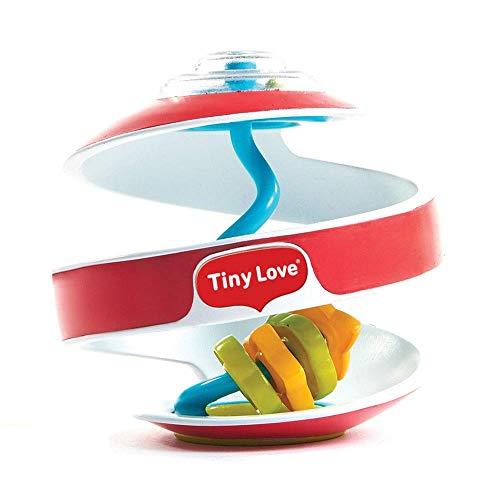 Tiny Love Inspiral Spielball, Kunterbunter Babyball, Spiralkugel mit anregendem Spielzeug zur Förderung von kognitiven und motorischen Fähigkeiten, geeignet ab ca. 6 Monaten, rot, 10 x 10 x 10 cm