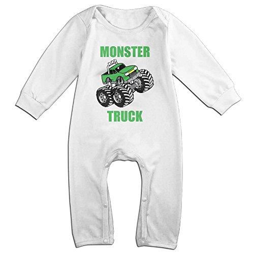 Momo Monster Truck Body Bebé Pelele trajes azul marino