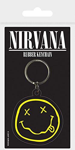 Nirvana smiley portachiavi in gomma, multicolore, 4.5x 6cm