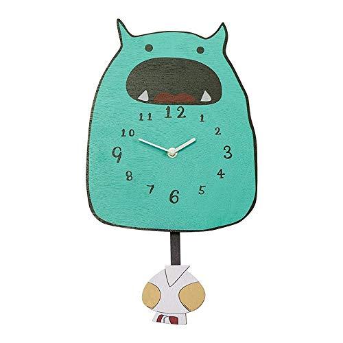 Wanduhr Explosion Dekoration Uhr Kinderzimmer Kindergarten Süße Kreative Kleine Monster Cartoon Schaukelwanduhr 1