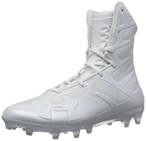Under Armour Men's Highlight MC Football Shoe, White (100)/White, 12