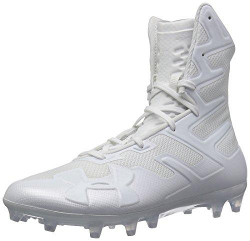 Under Armour Men's Highlight MC Football Shoe, White (100)/White, 11