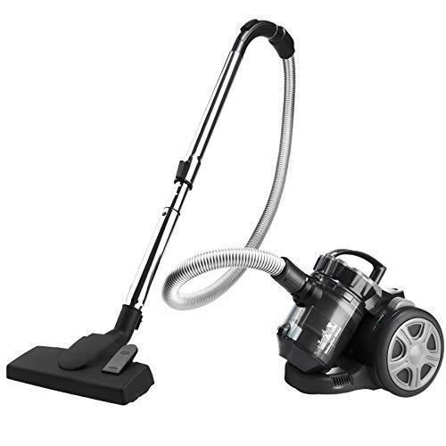 Monzana Aspiradora multiciclónica Plata sin bolsa 900W filtro HEPA 3L silenciosa cepillo 2en1 aspirador muebles suelo