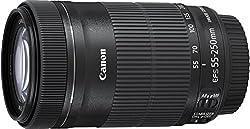 Canon Telezoomobjektiv EF-S 55-250mm F4-5.6 IS STM Telezoom für EOS (58mm Filtergewinde, optischer Bildstabilisator), schwarz