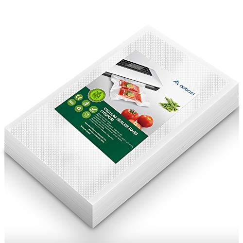 Aobosi Vakuumrollen Vakuumierfolie Rolle für alle Folienschweißgeräte,100 Beutel 20x30cm-Premium Qualität Folienbeutel Folienrollen Für Sous Vide BPA Frei und LFGB Zugelassen
