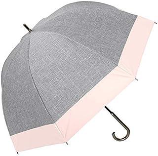 100%完全遮光 99%ではダメなんです! 【Rose Blanc】 日傘 晴雨兼用 UVカット 1級遮光 撥水 ブランド おしゃれ レディース かわいい 母の日 ラージサイズ 60cm コンビ ダンガリー アクリル手元 6cb-19-d