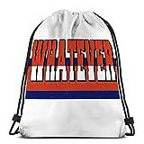 Lsjuee Sports Fitness Bag Mochila con cordón para hombre mujer lema cualquier...