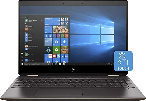 HP Spectre x360 15-df1014na 15.6' 4K UHD Touchscreen Laptop, Core i7-9750H w/GeForce GTX 1650, 16GB DDR4, 1TB Solid State Drive, Wi-Fi 6 [802.11ax], Windows 10 Home (Renewed)