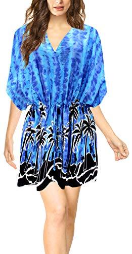 LA LEELA Abito Prendisole Beachwear Lettino da Sera delle Donne Casuale Migliori occultamenti Blu