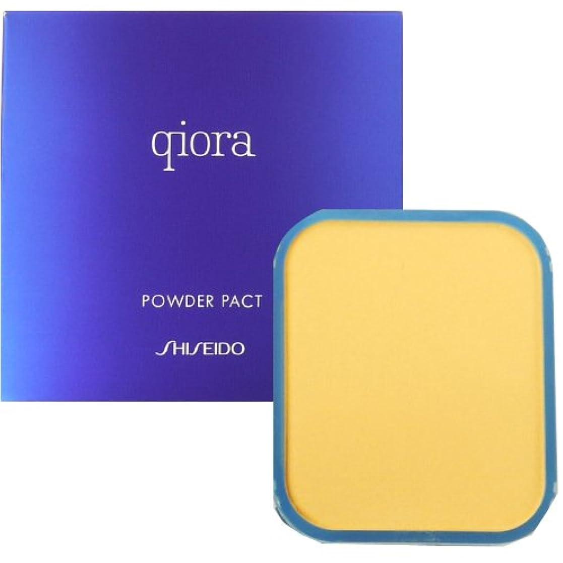 メイド緊張多様な資生堂 キオラ qiora パウダーパクト SPF17 PA++ 【詰め替え用】 10g【ピンクオークル10】