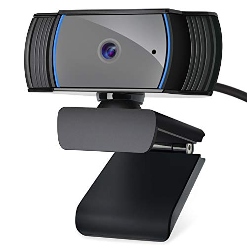1080P hd Webcam Auto Focus with Microphone, Roadom 2Mega Pixel Full HD USB Camera for PC/Computer/Laptop, 360°Rotatable Tripod-Ready for Zoom Meeting/Video Calling/Vlogging/Skype/Broadcasting