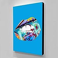 セクシーな白い歯のポスターをキャンバスに印刷抽象壁アート画像家の壁のアートワークの装飾のためのキャンバスの絵画