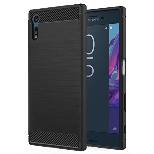 MoKo Sony Xperia XZ/XZs Hülle - Premium Ultra Slim Leicht weiches TPU Protector Phone Hülle Handy Schutzhülle Schale Bumper für Sony Xperia XZ/Xperia XZs 2017 5,2 Zoll Smartphone, Schwarz