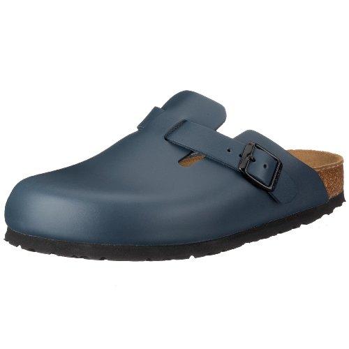 Birkenstock Unisex-Kinder BOSTON Glattleder Clogs, Blau (Blau), 44 EU