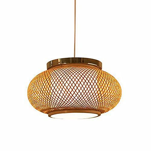 LIWENGZ Araña De Bambú Moderna Y Sencilla Lámparas Colgantes De Techo Vintage Tejidas A Mano Lámpara Mimbre Creativa Y Sencilla. Lámparas De Decoración De Sala De Estar De Pasillo De Portalámparas E27