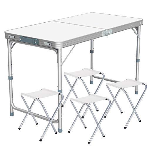 Colore: Bianco Tavolo Pieghevole da Campeggio 180 x 70 x 74 cm MobEventPro