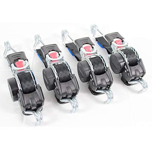 Set Automatik Spanngurt Zurrgurt Gurte 25mm 300/600 daN selbstaufrollend mit Spitzhaken