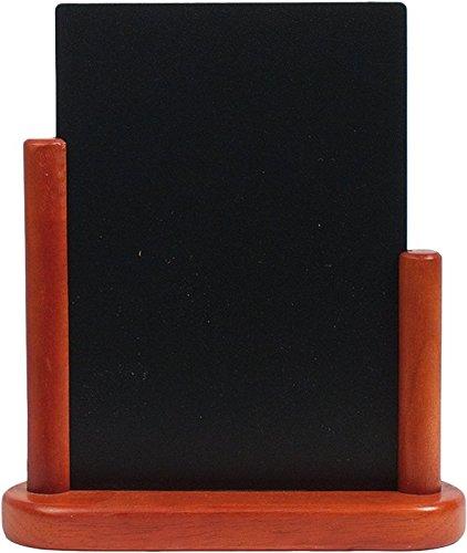Securit Tableau noir de table avec tablette finition laquée Acajou Taille Moyenne 15 x 21 cm