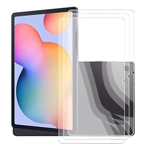 JIENI Protector Pantalla para Samsung Galaxy Tab S6 Lite Tabletas,[3 Pack] Dual Protector de Pantalla en Cristal Templado Premium para Samsung Galaxy Tab S6 Lite - Dureza 9H - Alta Definicion.