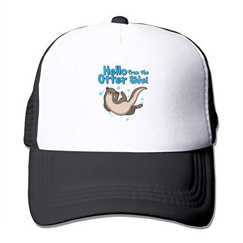 Myhou Hello from The Otter Casquette de baseball réglable en maille filet pour casque de camionneur Noir