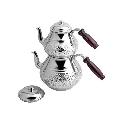 Pure Copper teapot Kettle Handmade Kitchen Tea Set Traditional Tea Set Coffee Boiler Wooden Handle Exquisite Gift Classic Design (Color : Gri)