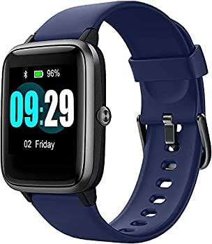 Smart Watch for Android/Samsung/iPhone Activity Fitness Tracker with IP68 Waterproof for Men Women & Kids Smartwatch with 1.3  Full-Touch Color Screen Heart Rate & Sleep Monitor Blue