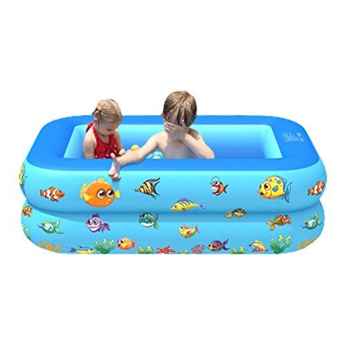 TiKiNi La piscina de la familia, la piscina inflable explota la piscina rectangular para los niños, la piscina inflable de la familia