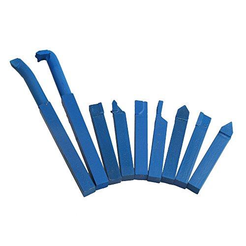 BQLZR 10 x 10 mm azul YT15 punta de carburo de aleación con punta de corte conjunto de herramienta de corte Bit para herramientas de torno de metal paquete de 9
