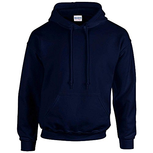 Gildan Heavy Blend Sweat à capuche de 18500 bleu bleu marine Medium