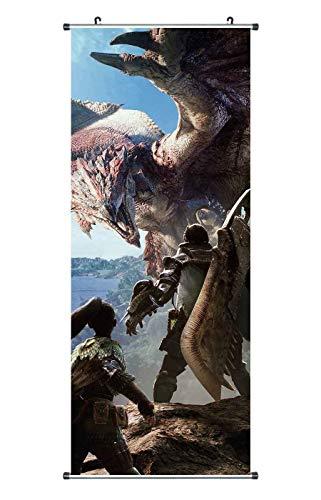 CoolChange Großes Monster Hunter Rollbild | Kakemono aus Stoff | Poster 100x40cm