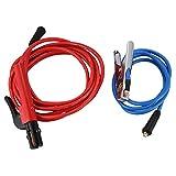 Summerwindy Accesorios para Máquinas de Soldar Cable de Electrodo de 200 Amp. Cable de 5 M Cable de 200 M. Abrazadera una Tierra de 2 M, Ambos con Conector Dkj10-25