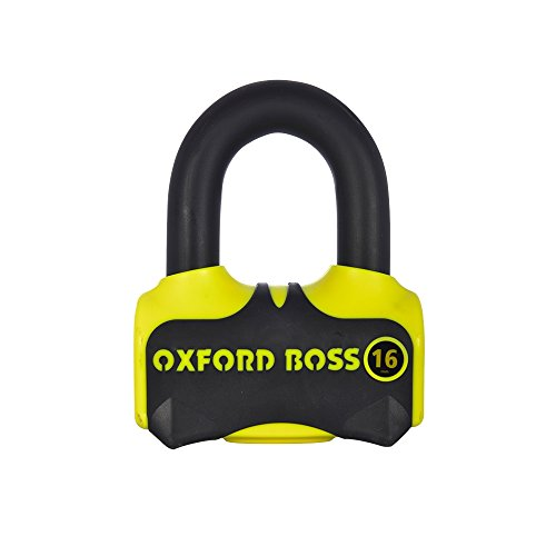 Oxford boss16Motorcycle Scooter Disc Lock Sold Secure Motorcycle Oro Tipo 4075
