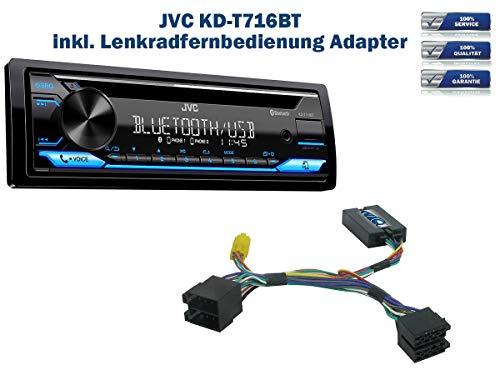 NIQ Autoradio KD-T716BT geeignet für Dacia Duster | Sandero inkl. Lenkrad Fernbedienung Adapter