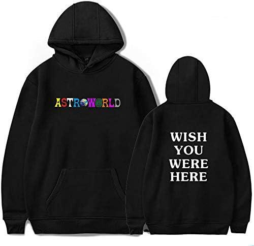 Travis Scott Astroworld Fashion Letter Imprimir Hoodie con Gato Bolsa Unisex