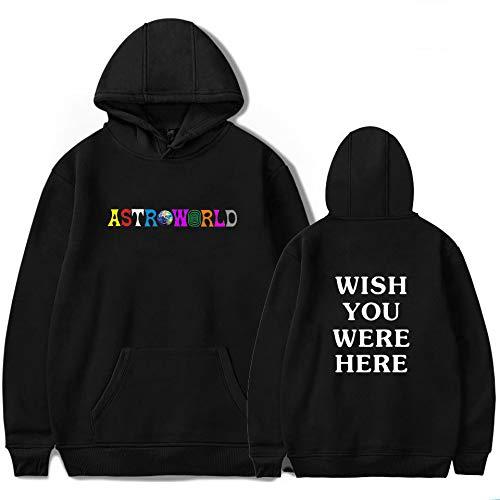 JJZHY Travis Scott Astroworld Fashion Letter Imprimir Hoodie con Gato Bolsa Unisex 4 Color