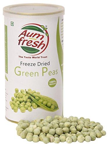 Aum Fresh USDA Zertifizierte Bio Gefriergetrocknete grüne Erbsen - 50 g / 1,7 Unze