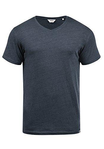 !Solid Bedo Herren T-Shirt Kurzarm Shirt Mit V-Ausschnitt Aus 100% Baumwolle, Größe:XL, Farbe:Insignia Blue Melange (8991)