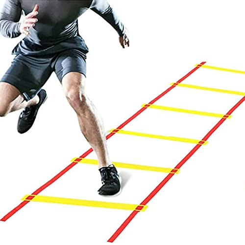 speed ladders Agility Ladder Flexibility Agility Ladder, Cones Football Training Equipment, Speed Agility Training Set, for Indoor/Outdoor Personal Training(Size:6m)
