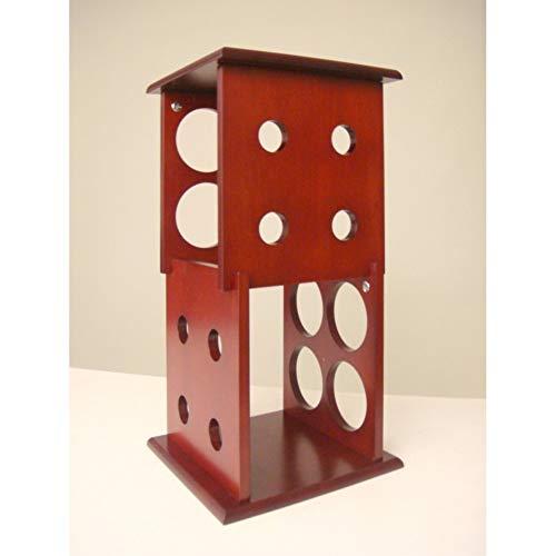 Fuji - Botellero de 2 capas, capacidad para 8 botellas, acabado caoba, ideal para colocar sobre la encimera o sobre la mesa, acabado en caoba