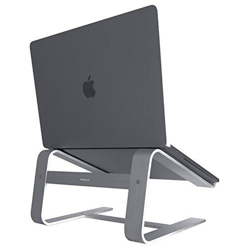 Macally, A-Stand, Aluminium-Laptop-Ständer für Apple MacBook, MacBook Air, MacBook Pro und andere Laptops zwischen 10 und 17 Zoll grau grau - Space Gray