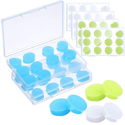 36 Paare Gel Ohrstöpsel Wiederverwendbare Silikon Ohrstöpsel Wasserdichte Schwimmen Geräuschunterdrückende Ohrstöpsel für Erwachsene Kinder Wachs Ohrstöpsel zum Schlafen Schnarchen 3 Farben