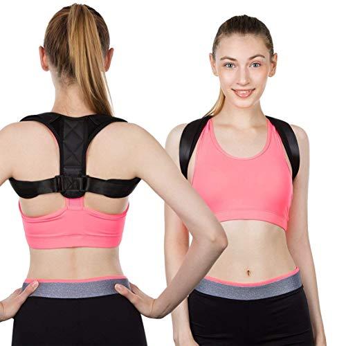 Cinturón de corrección jorobada Corrección de clavícula para niños adultos con tirantes de espalda ajustables transpirables Corrección de espalda