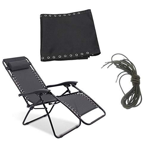 PLBB3K De Tela y Cable de Repuesto Negro Cordones for sillones reclinables Plegables Sillas de Patio...